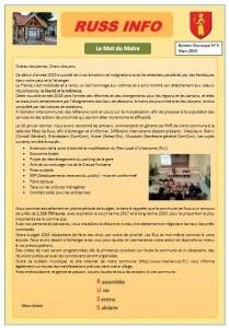 Bulletin N°5 Mars 2015